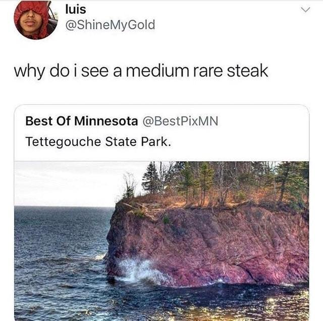 Medium rare steak - meme