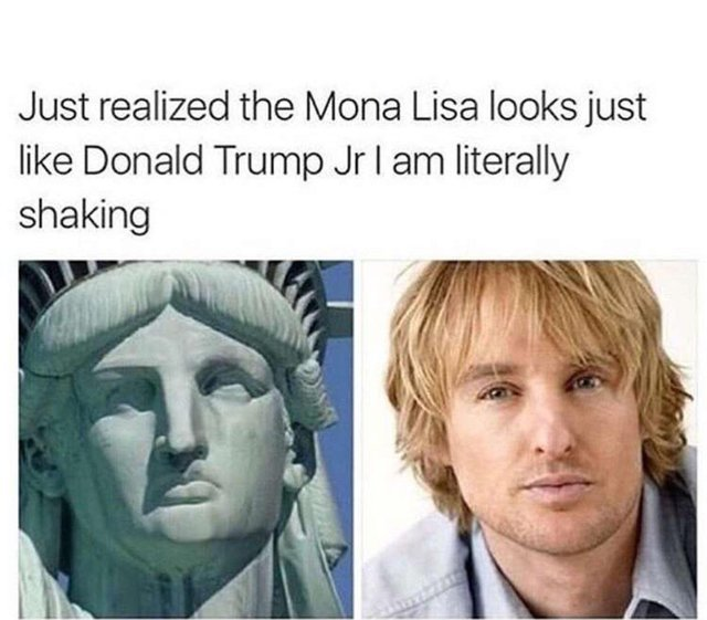 Just realized the Mona Lisa looks just like Donald Trump Jr - meme