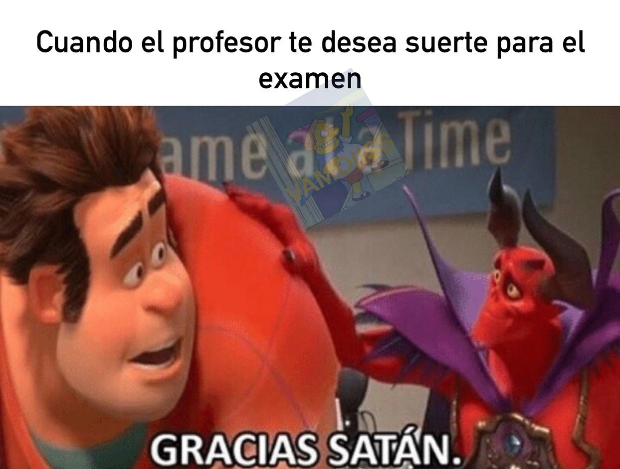Pues muchísimas gracias Satanás! - meme