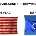 The European flag is commiting a copyright violation