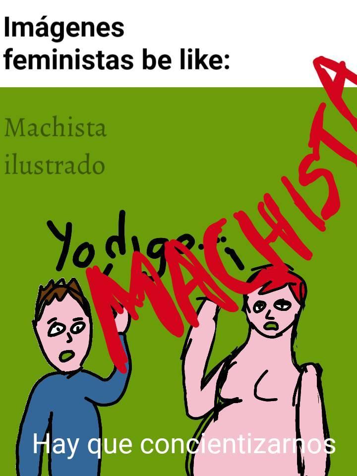 Machismo ilustrado - meme