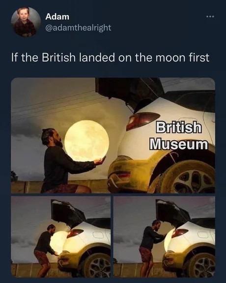 The British - meme