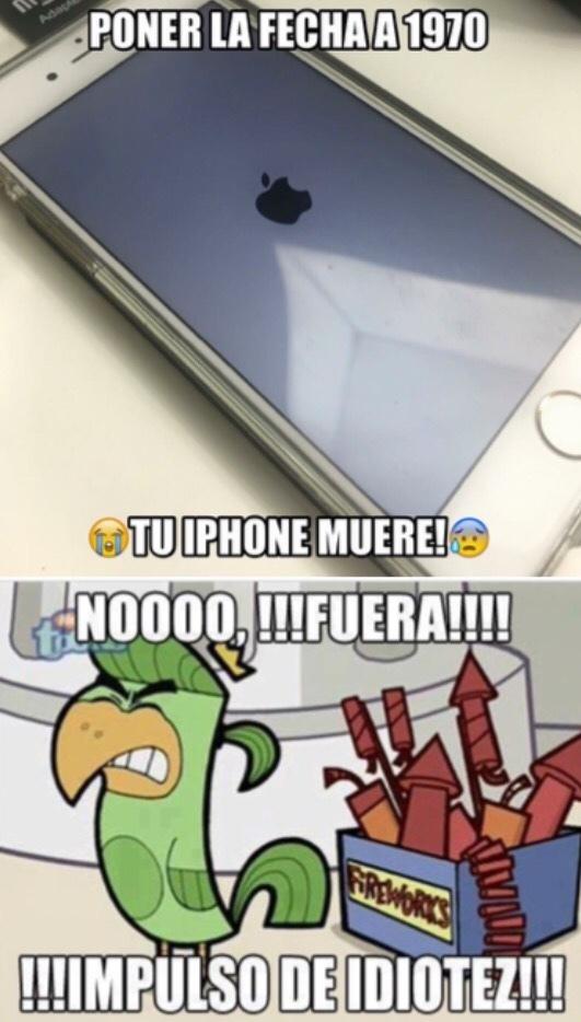 el iphone muere - meme