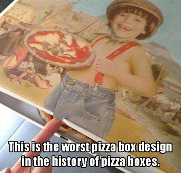 Pizza box Fail! - meme