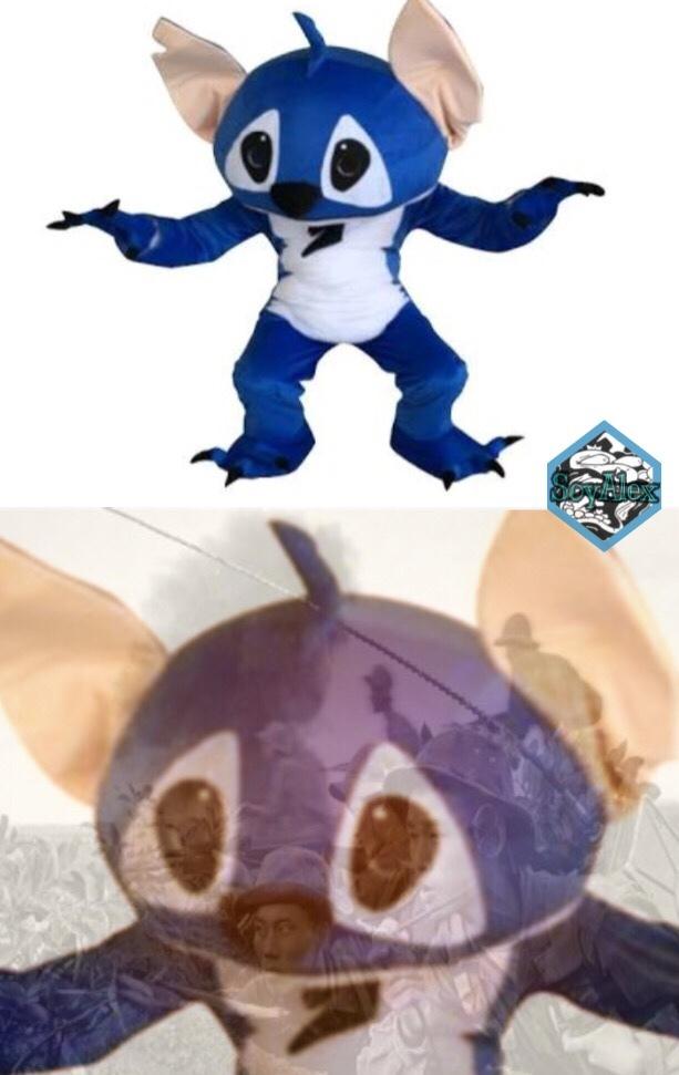 Se supone que es un disfraz de Stitch ._. - meme