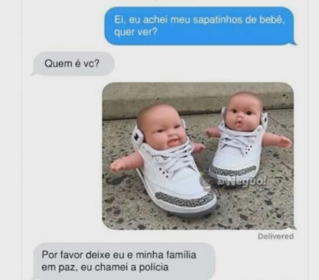 bebês de sapatinho - meme