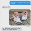 bebês de sapatinho