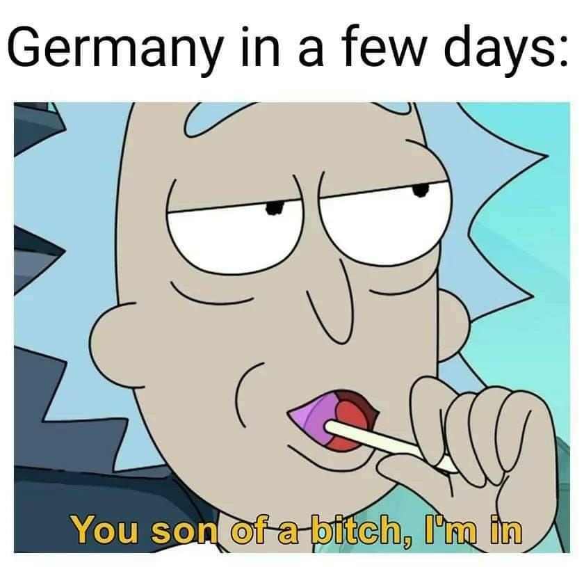 Germany has large peepee - meme