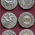 Pièces de monnaie de la Rome antique