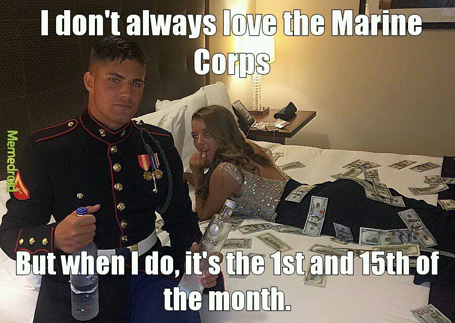 Dating een mariene meme