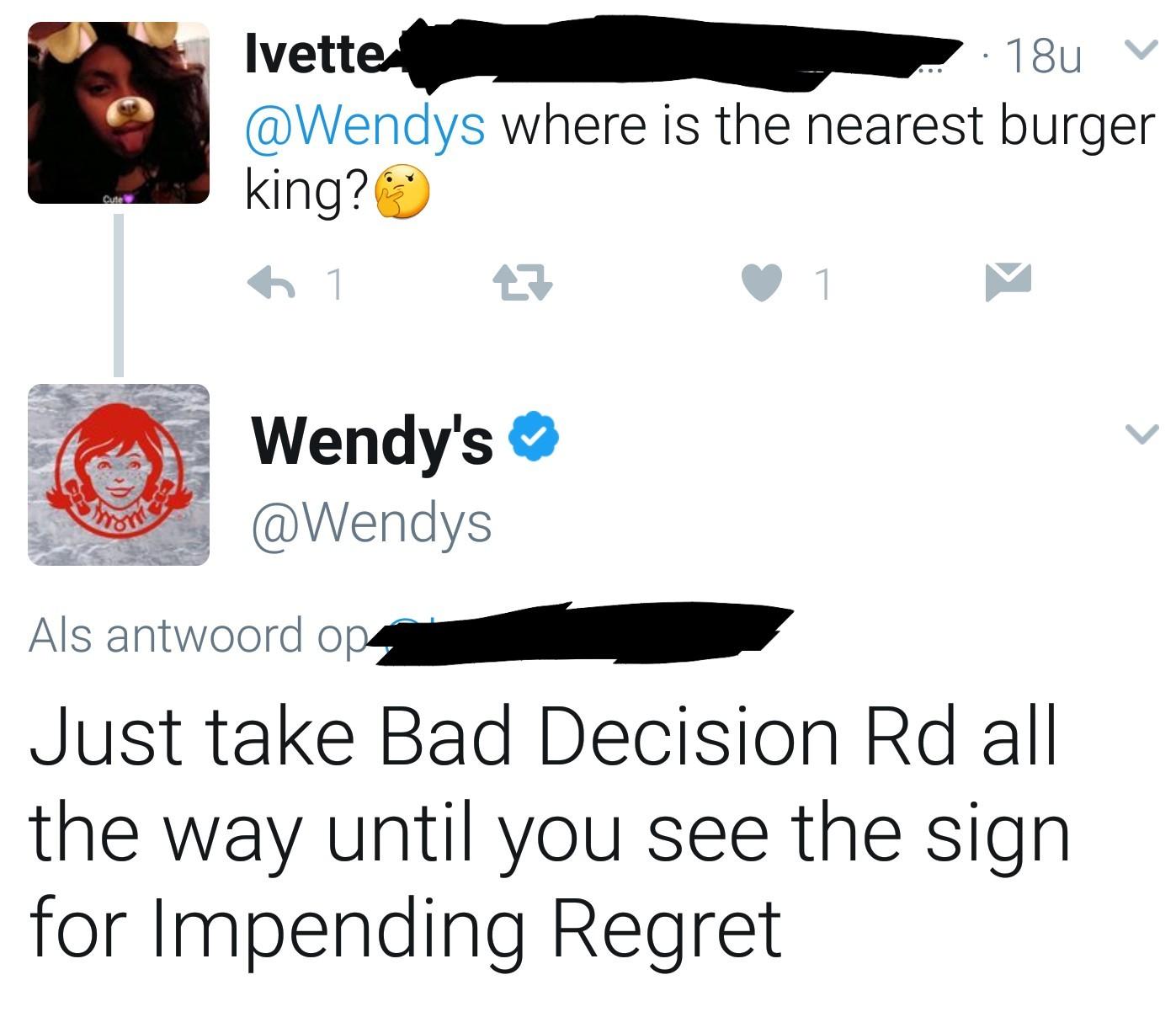 Wendy's savage - meme