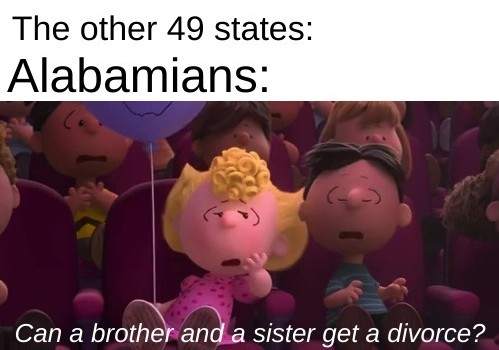 *Sweet home Alabama intensifies* - meme