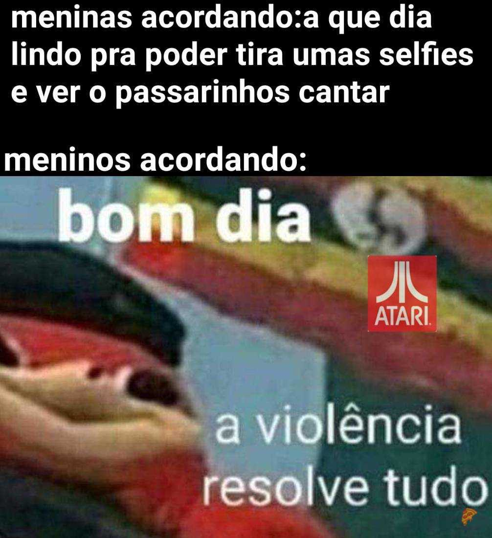Sim a violência resolve tudo - meme