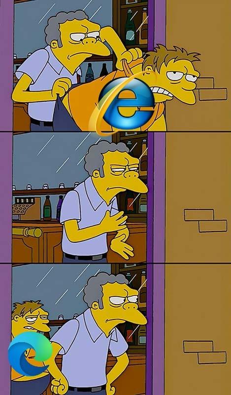 Microsoft edge também é um lixo - meme