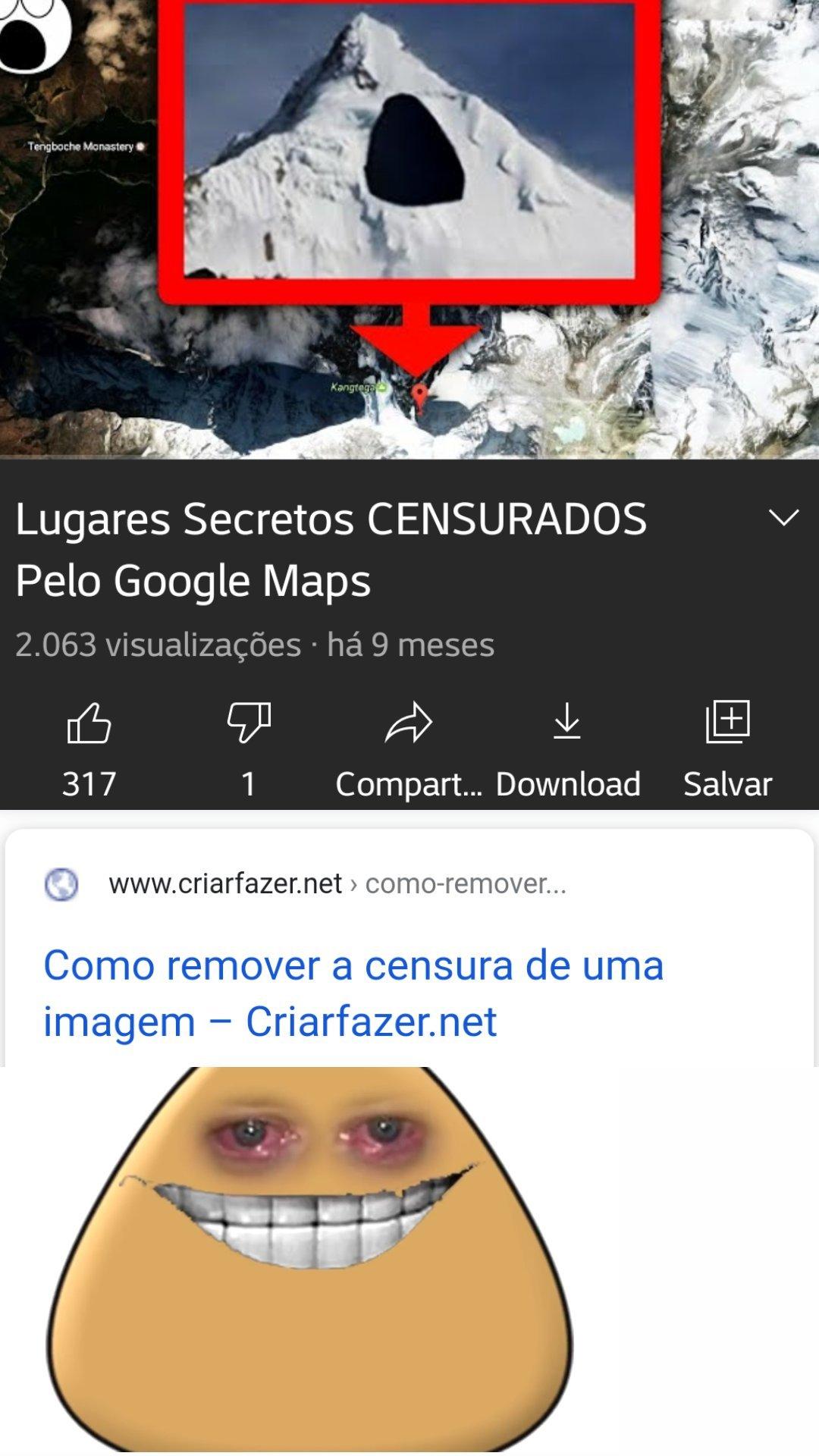 Seus segredos acabaram Google!!! - meme