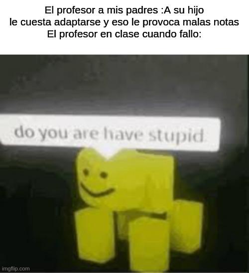 Stupido o q? - meme