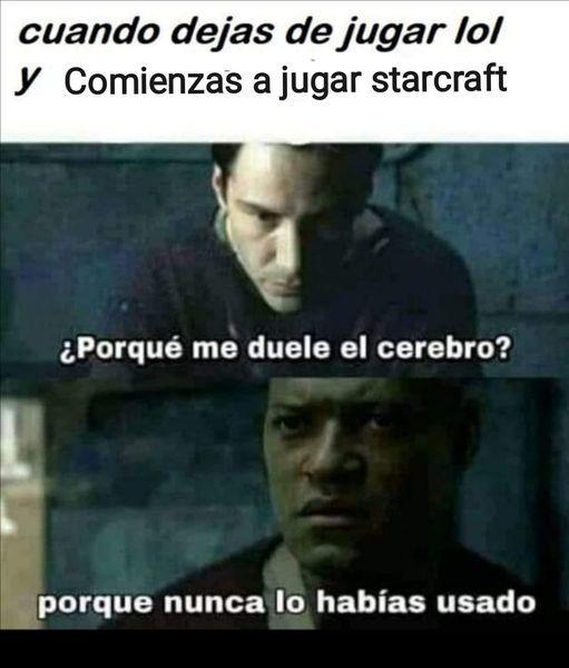 """derechos a """"población starcraft"""" - meme"""