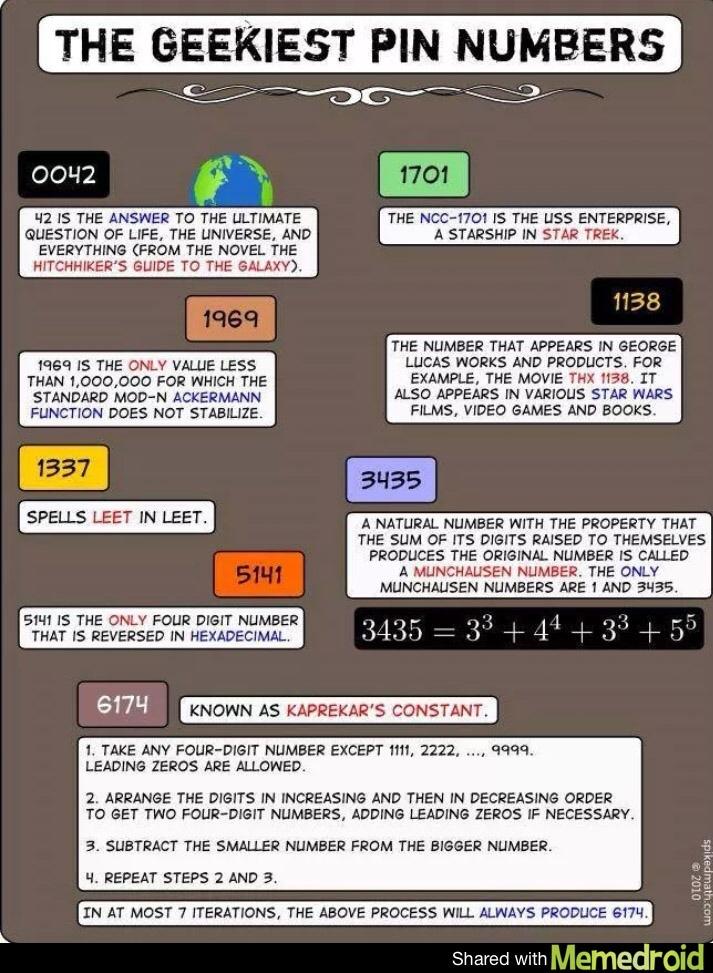 geek PIN numbers - meme