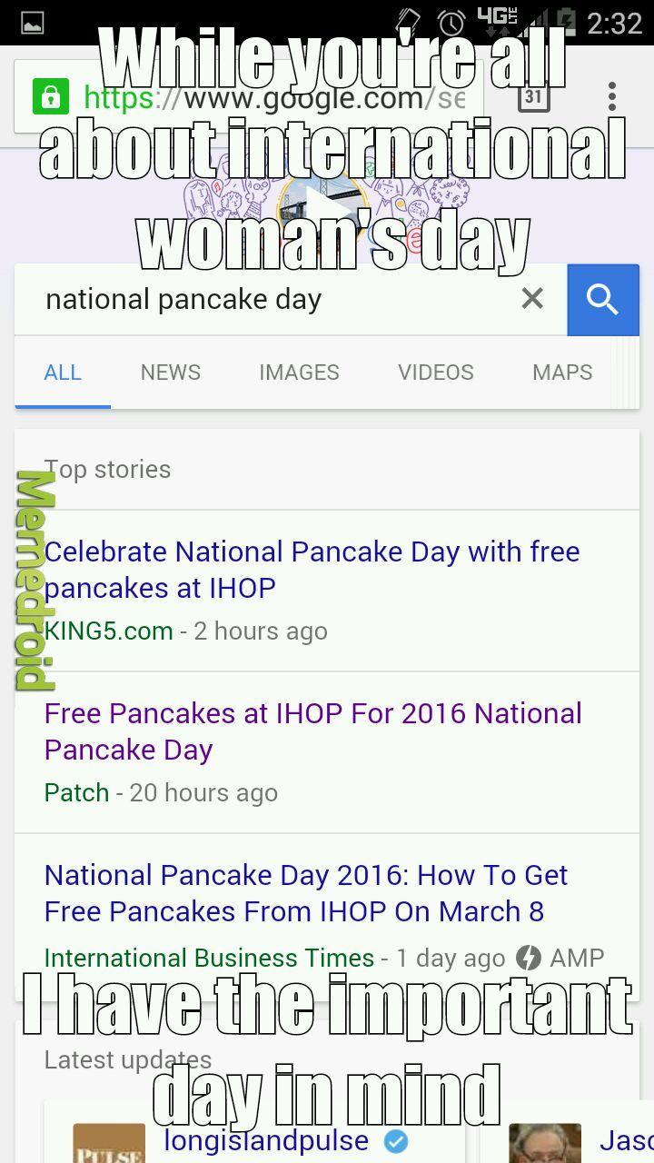 Free pancakes - meme