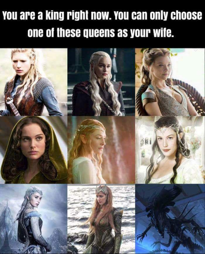 Who is your queen? - meme