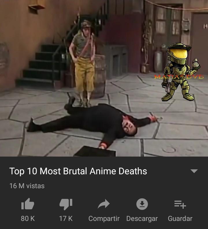 La muerte del señor barriga - meme
