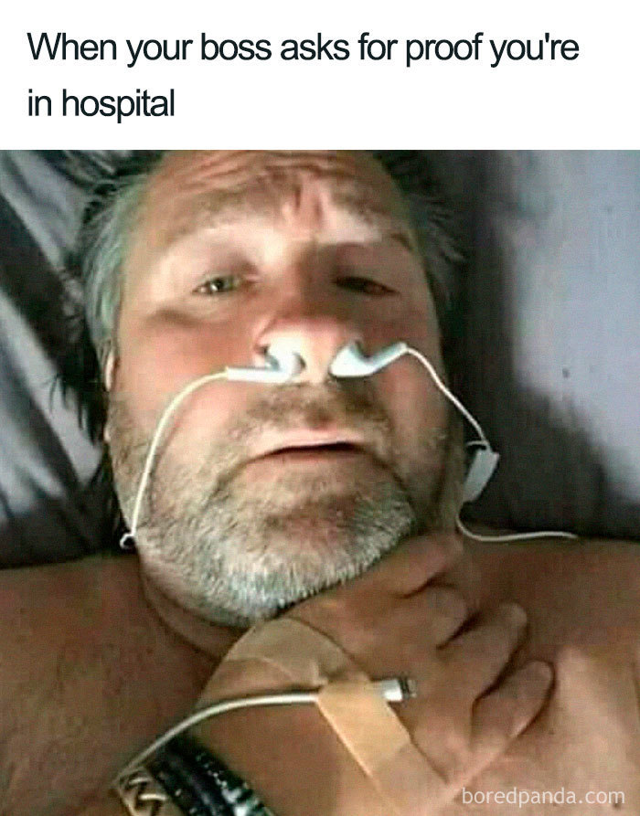 when you are  pretending you're sick  - meme