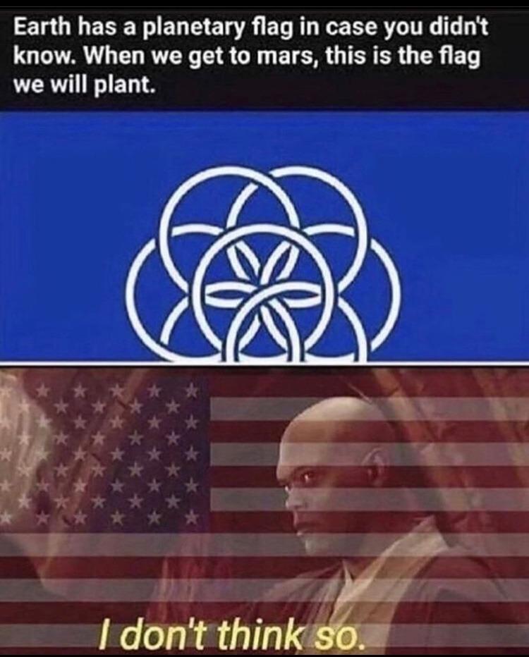 earth flag - meme