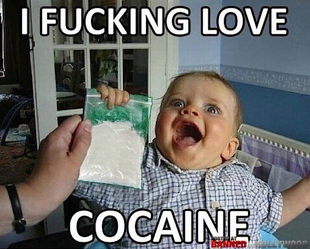 Cocaine and cocaine accessories - meme