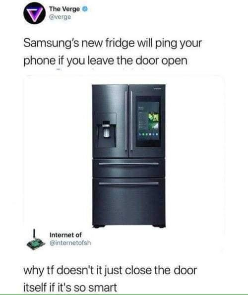 Not so smort fridge - meme