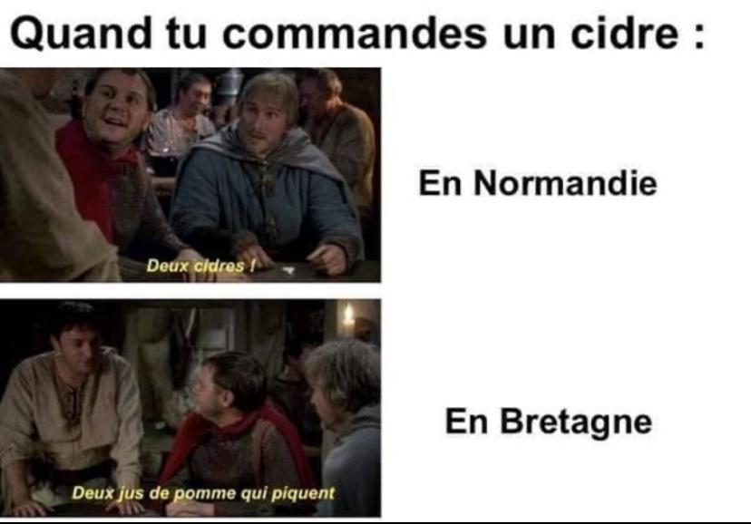 Ah les Bretons tjrs a vouloir faire différemment - meme