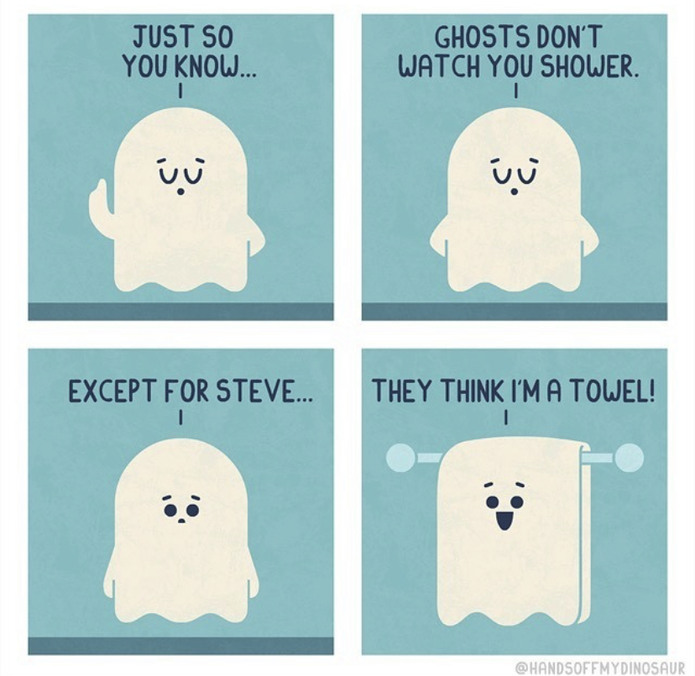Ghost in the shower - meme