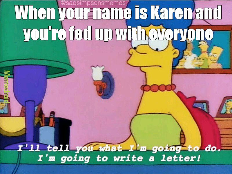 Karen sucks - meme