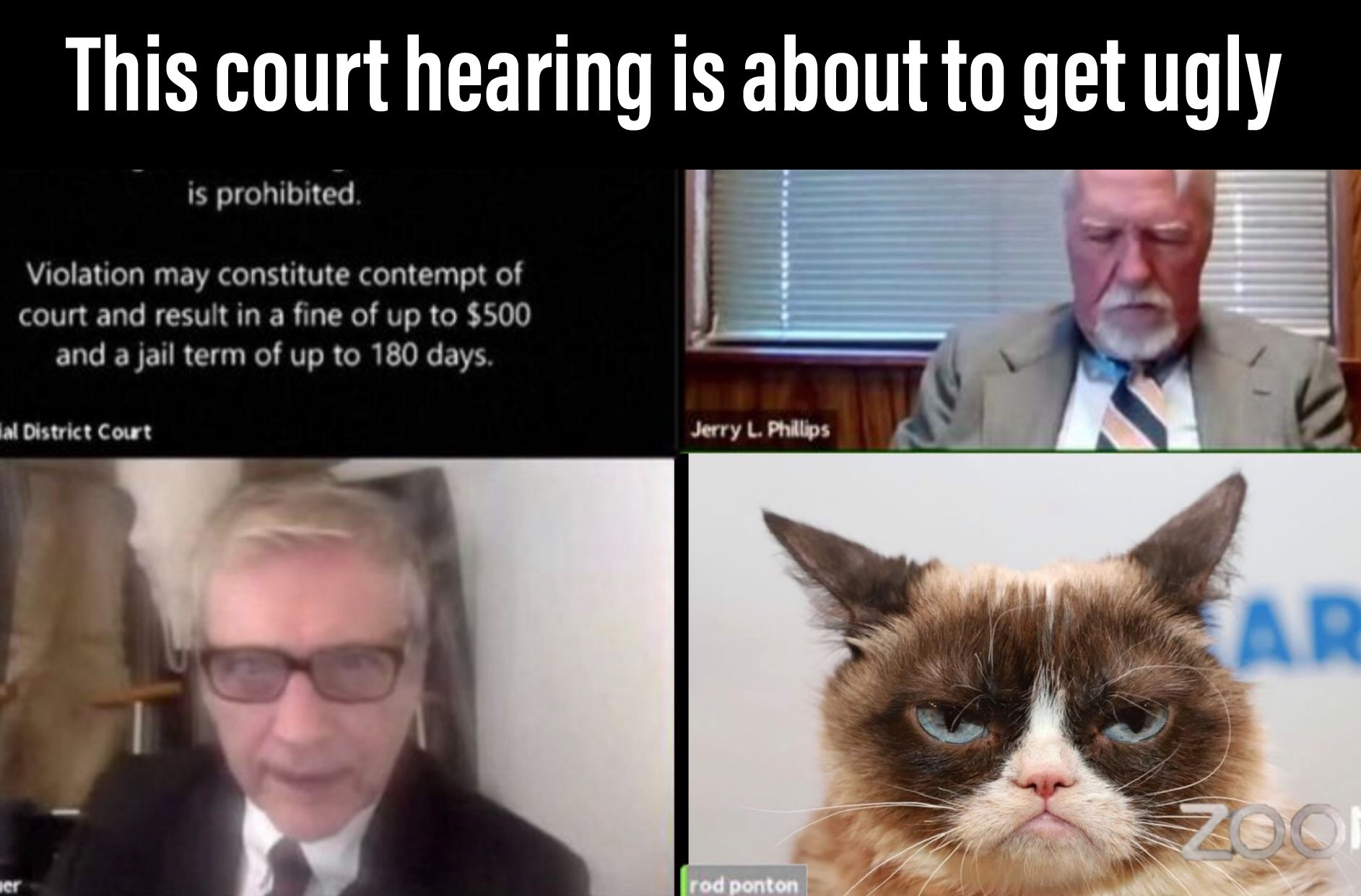 The lawyer looks angry... - meme