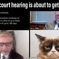 The lawyer looks angry...