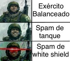 Título foi aprender que os escudos brancos são tropas lixo/descartáveis - meme