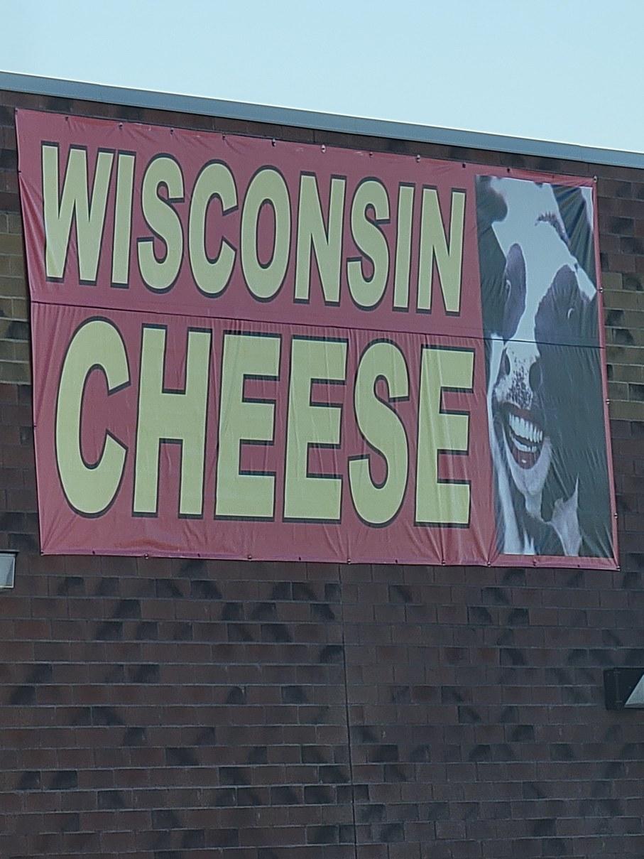 Blursed cow in Wisconsin - meme
