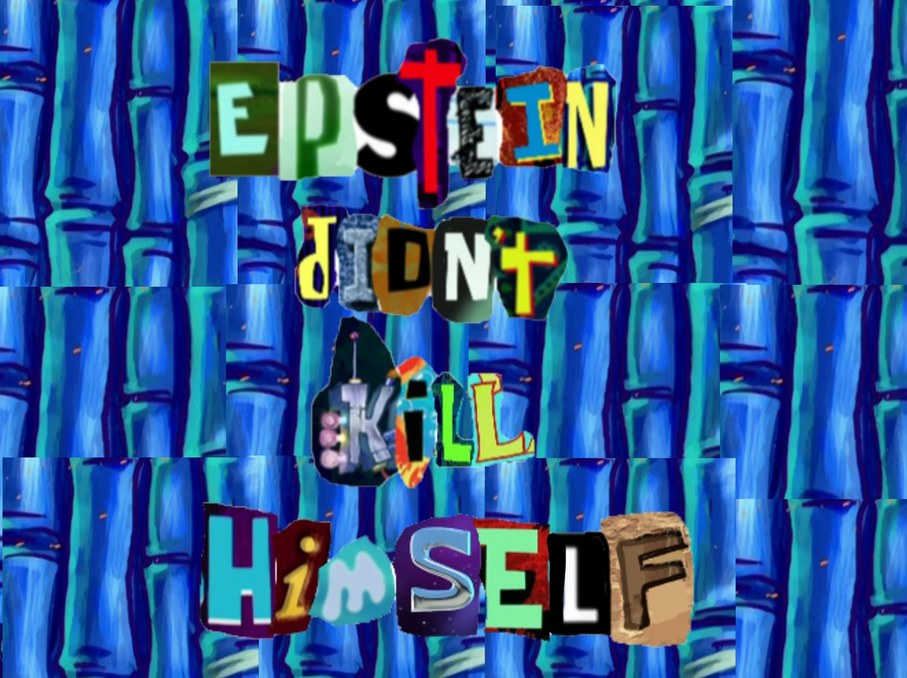 spongebob epstein meme