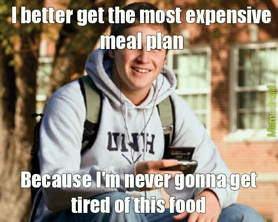 How I felt during my first semester of college - meme