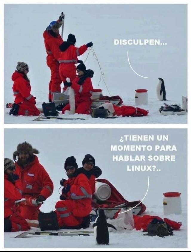 Linux nuestro salvador - meme