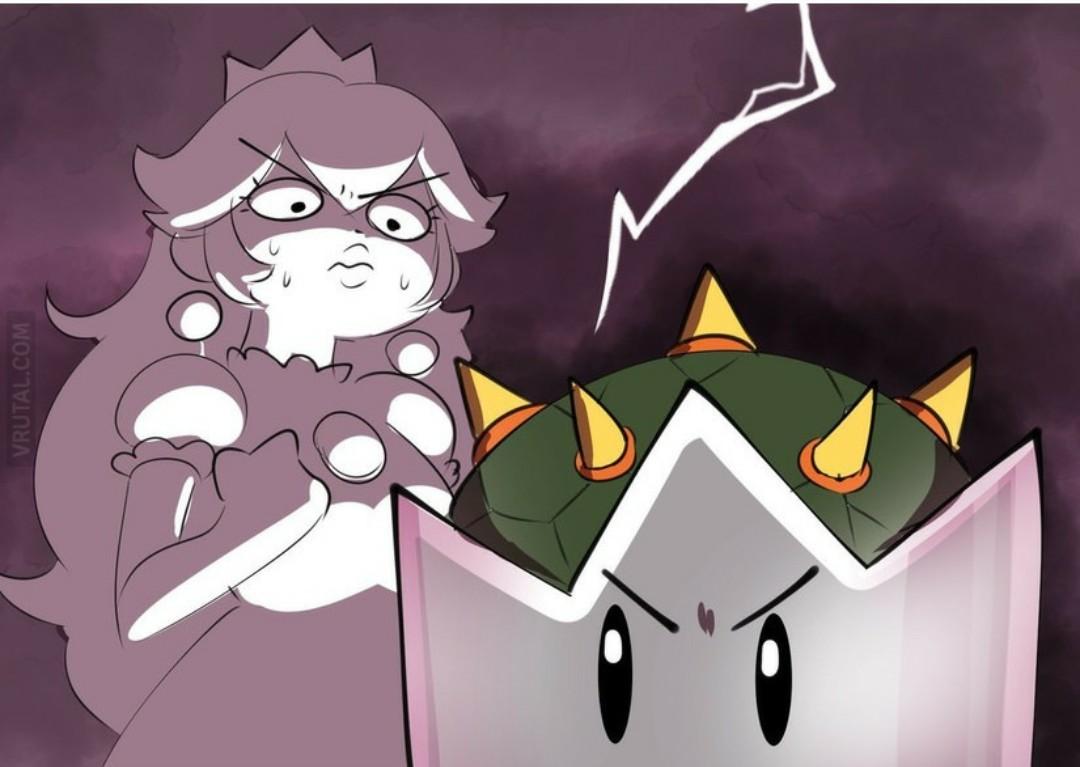 si bowser es la princesa, entonces yo seré el monstruo. - meme
