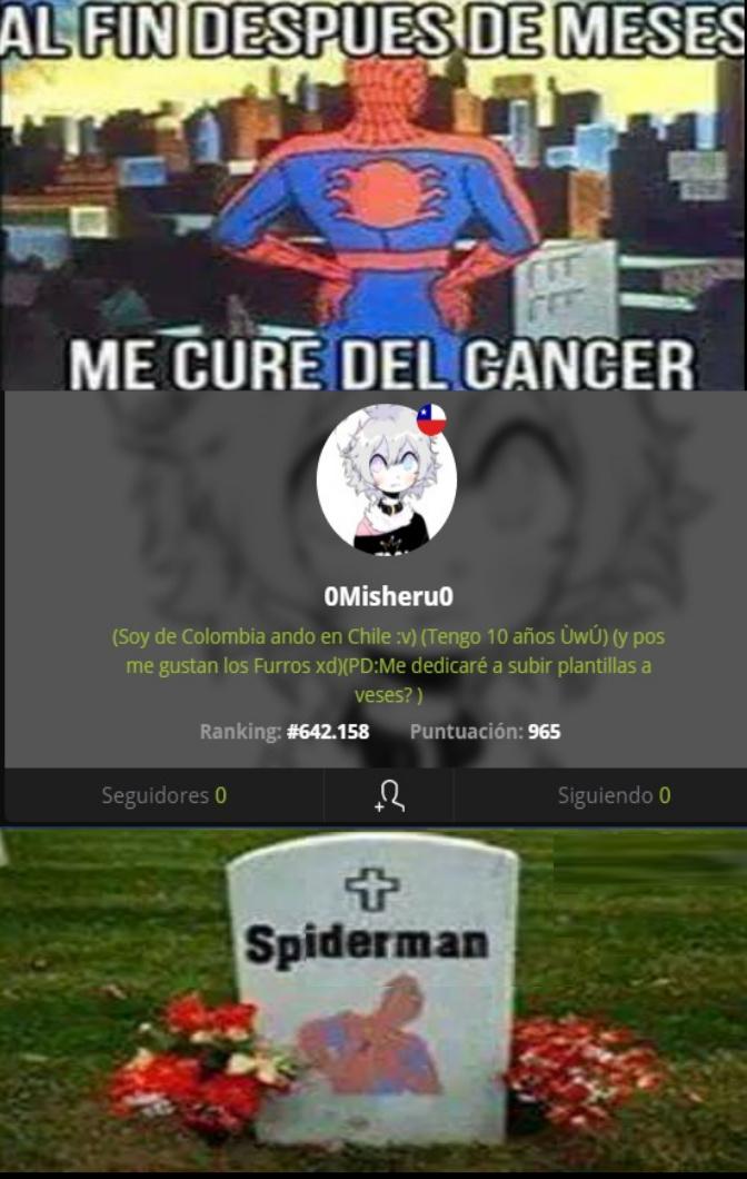 Por dios que cancer me dio leer eso - meme