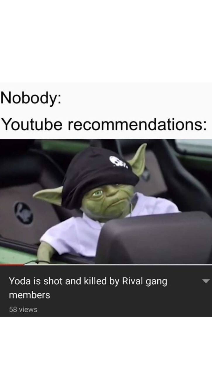 Youtube Recommendations - meme