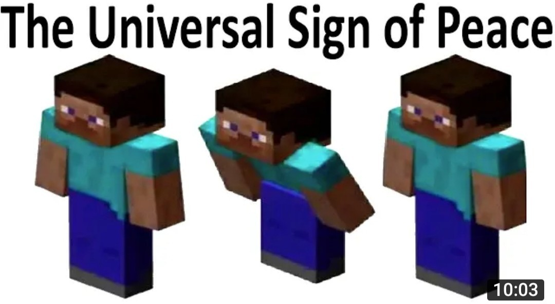 Universal Sign of Peace - meme