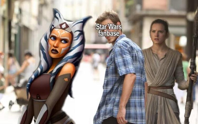Ahsoka is better than Rey - meme