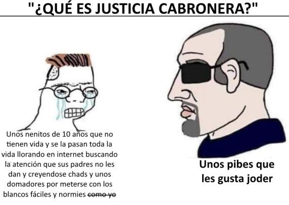 Definicion de justicia cabronera - meme