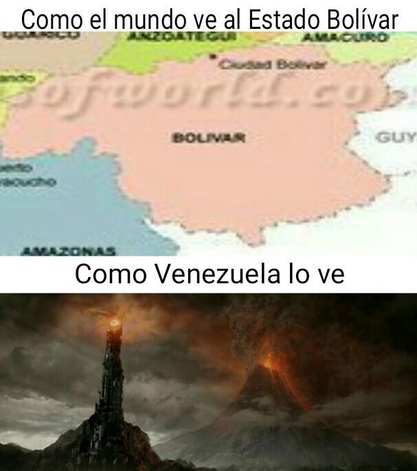 No vayan al Estado Bolívar - meme