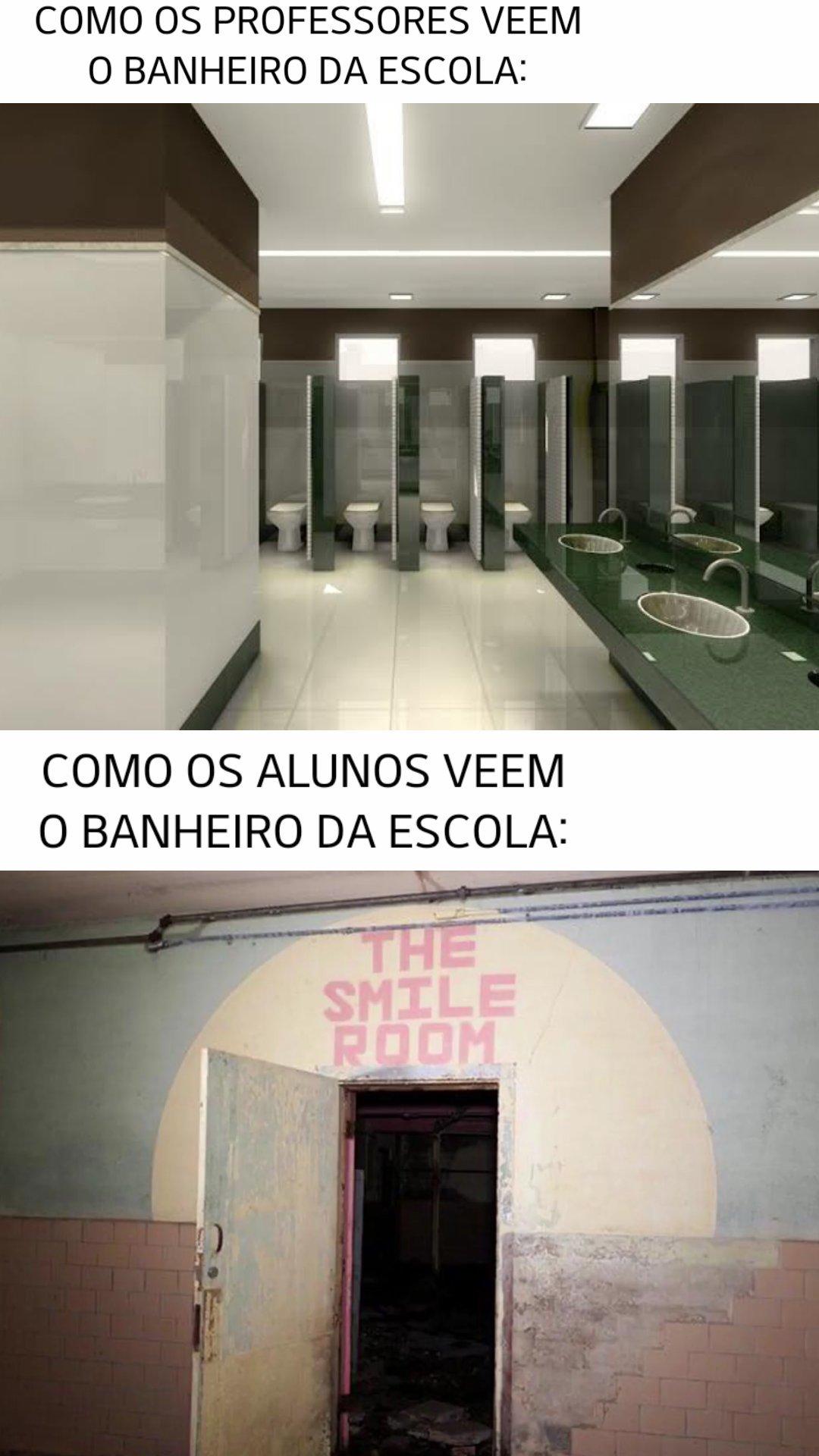 as vezes eu achava q tinha o demonio no banheiro - meme