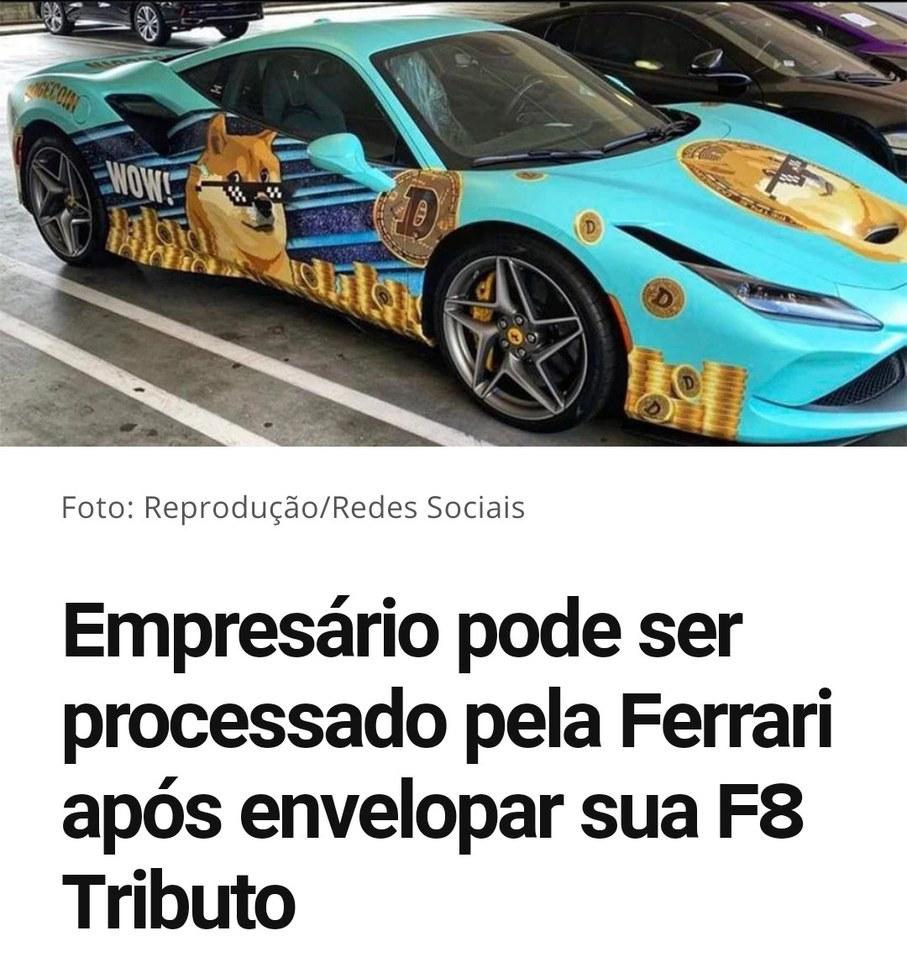 Ferrari do Bitcoin fodase kapa kapa - meme