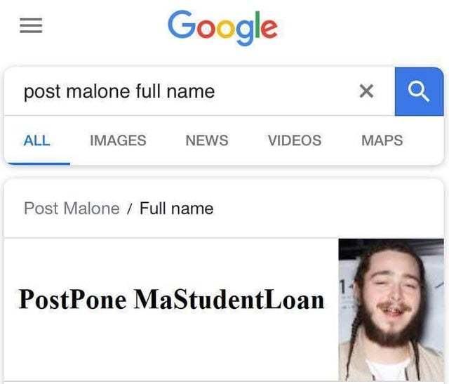 Post Malone full name - meme