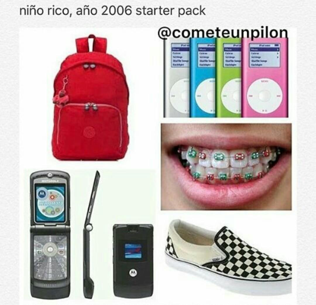 Starter pack 2006 - meme